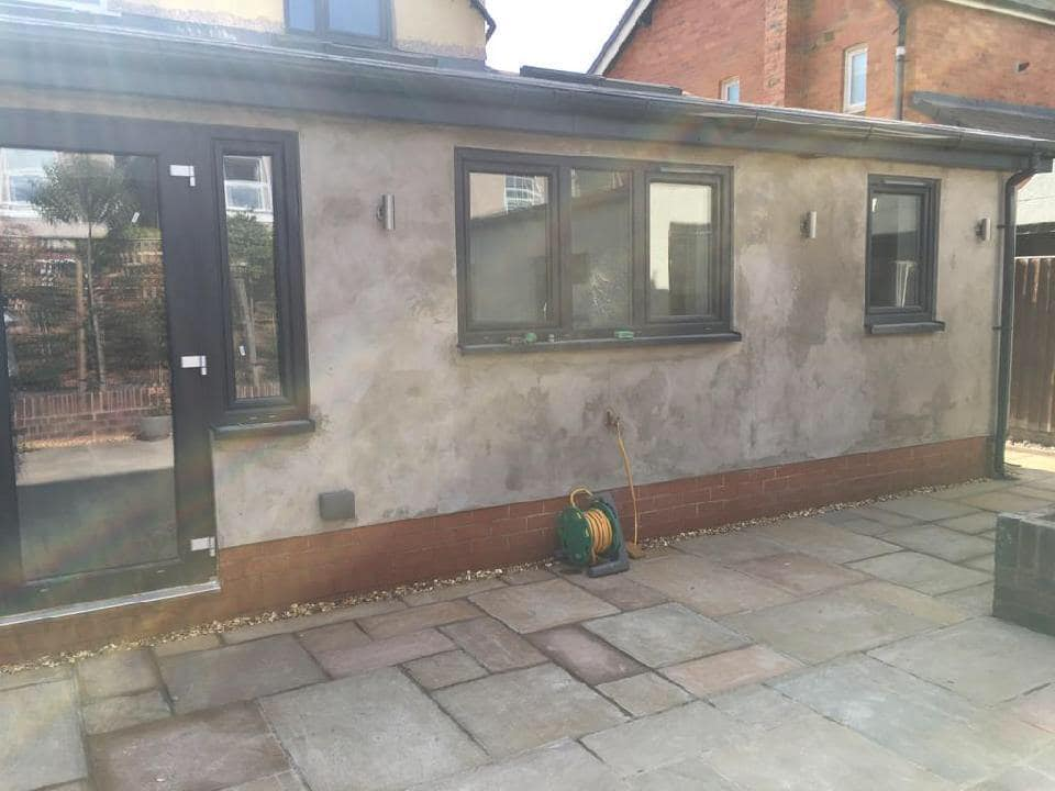 Another extension almost complete in Chester, Cheshire.