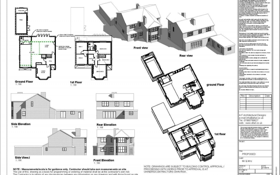 All our drawings are provided in 3D for all new builds and extensions – Manchester/Cheshire/Chester