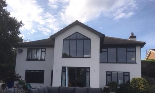 Another beautiful extension almost complete! The views from those windows are just amazing!